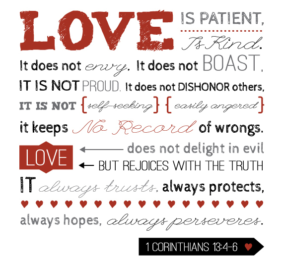 1 Corinthians 134 Love Is Patient Love Is Kind Bamboo Innovator