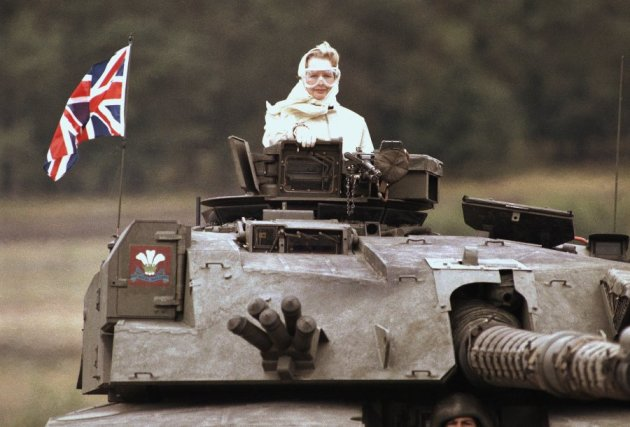 by-1986-thatcher-looked-pretty-comfortable-riding-in-the-turret-of-a-tank