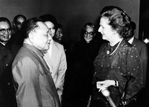 heres-thatcher-in-1982-meeting-with-chairman-deng-xiaoping-in-beijing-who-is-widely-credited-with-bringing-a-market-economy-to-the-peoples-republic-of-china