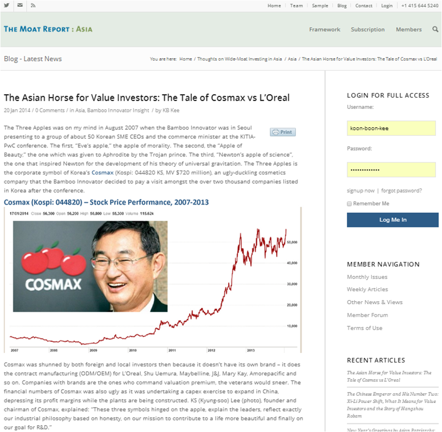 The Asian Superlative Horse for Value Investors: The Tale of Cosmax