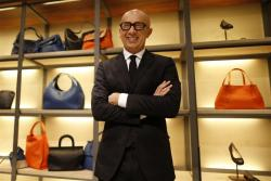 Marco Bizzari, President and Chief Executive Officer of Bottega Veneta, poses during an interview with Reuters at the Bottega Veneta's shop in Paris